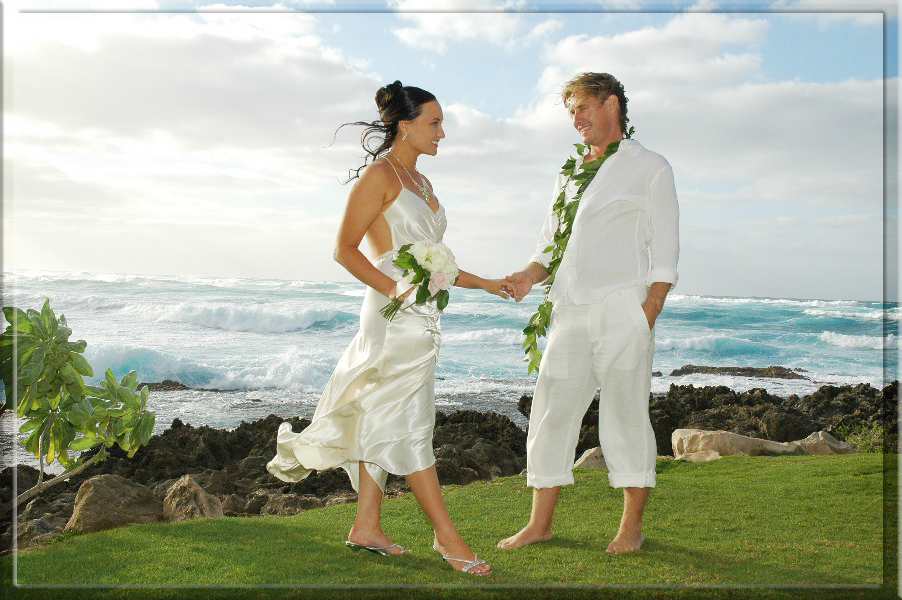 Hawaii weddings north shore oahu for Honolulu wedding dress rental